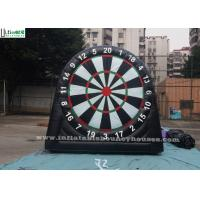 Quality Kids And Adults Giant Inflatable Golf Dart Boards With Velcro Balls for sale