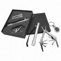 Buy cheap 3-piece Multifunctional Picnic Tools Set with Flashlight, Compass and Multifunctional Pliers from wholesalers