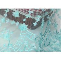 Wholesale Nigerian Dress Green Lace Fabric With 3d Flower / Lace Dress Fabric For Wedding from china suppliers
