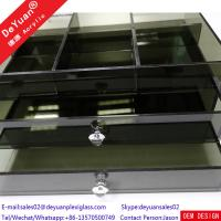 Wholesale Plastic Storage Box Custom Acrylic Products Black Transparent Drawer Rack from china suppliers
