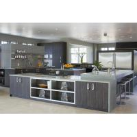 Quality Restaurant / Home Stainless Steel Kitchen Units U Shape With Wood Veneer for sale