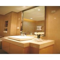 Wholesale 6MM clear square  bathroom mirror with stainless steel frame from china suppliers