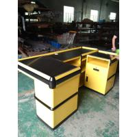 Wholesale Retail Store Checkout Counters , Electrostatic Spray Stainless Steel Checkout Counter from china suppliers