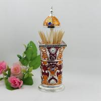 Wholesale Shinny Gifts Enameled Toothpick Holder for Tableware Decoration from china suppliers
