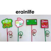 Wholesale Christmas Decoration Accessories Garden Plastic Plug Different Letters Wrinting from china suppliers