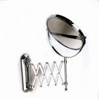 Buy cheap Folding Mirror, Made of Brass, Silver and Polished Chrome, Easy to Install and Clean from wholesalers