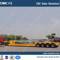 Wholesale extendable 4 axles gooseneck detachable front loading trailer 100 tons from china suppliers