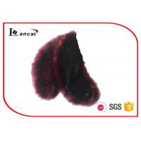 Wholesale Customized Faux Fur Scarf Faux Warm Neck Fur Hooded Scarf For Girls from china suppliers