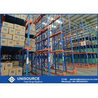 Buy cheap Cold Rolled Steel Drive In Pallet Racking Heavy Duty Industrial Shelving Units from wholesalers