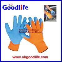 Wholesale 7G light blue coating latex safety gloves from china suppliers