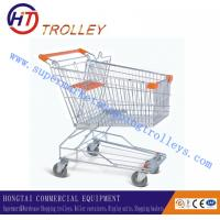 Wholesale 70 Kgs Supermarket Four Wheel Shopping Cart Steel Material Zinc Coated from china suppliers