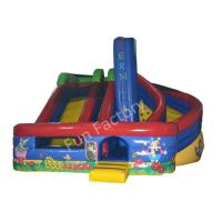 Wholesale Outside Garden Inflatable Dry Slide Kids Huge with Bouncer YKK Zipper from china suppliers