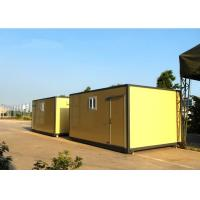 Wholesale Professional Economic Yellow Mobile Office Containers 20 Feet Or Military house from china suppliers