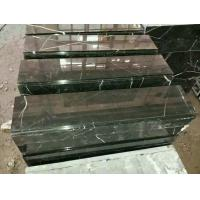 Wholesale China Marble Stairs Guangxi Nero Marquina Marble Non-Slip Stairs Tread Black Marble Steps from china suppliers