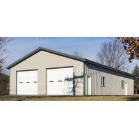China Bolt Connect Prefab Steel Garage Prefabricated Steel Buildings SA 2.5 Shot Blasting Grade on sale