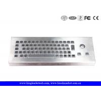 Wholesale Dust Proof Waterproof Industrial Computer Keyboard With Stainless Steel Trackball from china suppliers