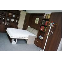 Wholesale Hotel Use Double Wall Bed with Sofa and Bookshelf , E1 Grade Material Brown Color from china suppliers