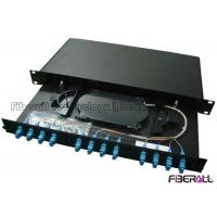 "Wholesale 1U Height 19"" Width Optical Fiber Patch Panel With 12 SC Adapter And Pigtail from china suppliers"