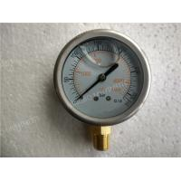 Buy cheap 63mm  Liquid Filled Manometer , Glycerin Filled Pressure Gauge with 304SS Dull Case from wholesalers