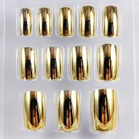 Wholesale Pretty Full Cover False Nail Custom Gold Plating Long Fake Nails For Girls from china suppliers