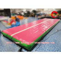 Wholesale Outdoor Inflatable Tumble Floor / Gym Mat Air Track For Tumbling Customized Size from china suppliers