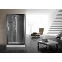 Wholesale Matt Black Profiles Corner Shower Stall , Corner Shower Cubicles 1200 X 800 X 2200 mm from china suppliers