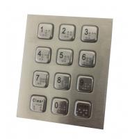 4 x 3 vandal proof numeric metal keypad with USB PS2 cable for  public security phone for sale