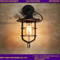 Wholesale New Industrial Retro Wall Sconce Cage Wall Light from china suppliers