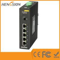 5 Megabit TX Port / 1 Gigabit SFP FX 5 Port Industrial Ethernet Network Switch / 5 Port Poe Switch