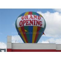 Quality Roof Decoration Rainbow Helium Ground Balloons Inflatable With Banner Printing for sale