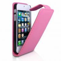 Wholesale Fashionable Leather Mobile Phone Pouches Case In Pink / Orange / Red from china suppliers