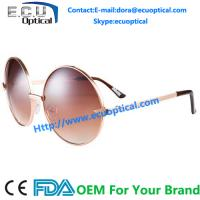 Wholesale Fashion Round Sunglass For Women Wine Stainless Frame With Brown Polarized Lens from china suppliers