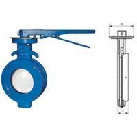 Wholesale WBLX single eccentric manual wafer soft seat butterfly valve dimension 200mm from china suppliers