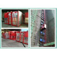 Quality Passenger Material Hoist Builders Lift , Rack And Pinion Construction Hoist Elevator for sale