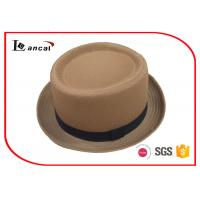 Wholesale Spring Plain Color Cotton Twill Ladies Trilby Hats With Bland Ribbed Hatband from china suppliers