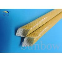Wholesale Amber color Polyurethane fiberglass Sleeving 2500V Heat Resistance from china suppliers