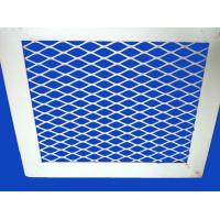 Wholesale Aluminium alloy Expanded Metal Mesh Panel with white PVC coating from china suppliers