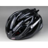 Wholesale 250G Black Round Bike Helmet Adjustable Strap / Road Bicycle Helmet With Visor from china suppliers