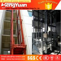 Wholesale 500kg-3000kg floor to upstairs goods guide rail chain lift table from china suppliers
