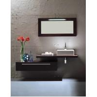 Quality Floating Vanity Big Mirror Bathroom Vanity Cabinets Quartz Stone Countertop for sale