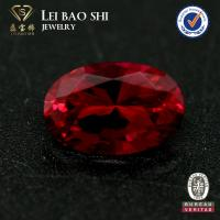Wholesale hot sale dark red ruby #6 synthetic corundum oval cut gemstone for ring from china suppliers