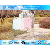 Wholesale Durable Outdoor Hanging Clothes Drying Rack White Steel Double Pole from china suppliers
