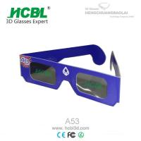 Wholesale Customized Purple Foldable Linear Polarized Paper 3D Glasses / Eyewear For 3D Movie from china suppliers
