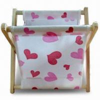 Wholesale Foldable/Storage Basket, Made of Wooden Stick and Fabric Cloth from china suppliers