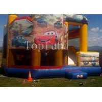 Wholesale PVC Racing Car Inflatable Water Jumping Castle 5 x 5m Digital Printing With Slide from china suppliers