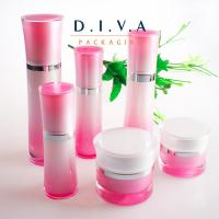 Wholesale fade color cosmetic bottle acrylic pump, skin care packaging bottles from china suppliers