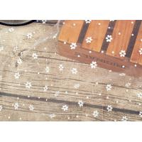 Wholesale Wedding Bridal Nylon Lace Fabric / Nylon Netting Fabric With Small Dot Flowers from china suppliers