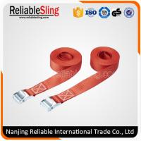 Wholesale High Resistance Ratchet Strap Webbing , Red Polyester Metal Cam Buckle Locking Strap from china suppliers
