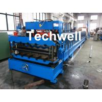 Wholesale Step Tile Color Steel Roll Forming Machine , Galvanized Coil Wave Tiles Making Machine from china suppliers