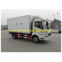 Wholesale HOWO light Refrigerated Box Truck , freezer van box 4X2 109 hp for seafood transport from china suppliers